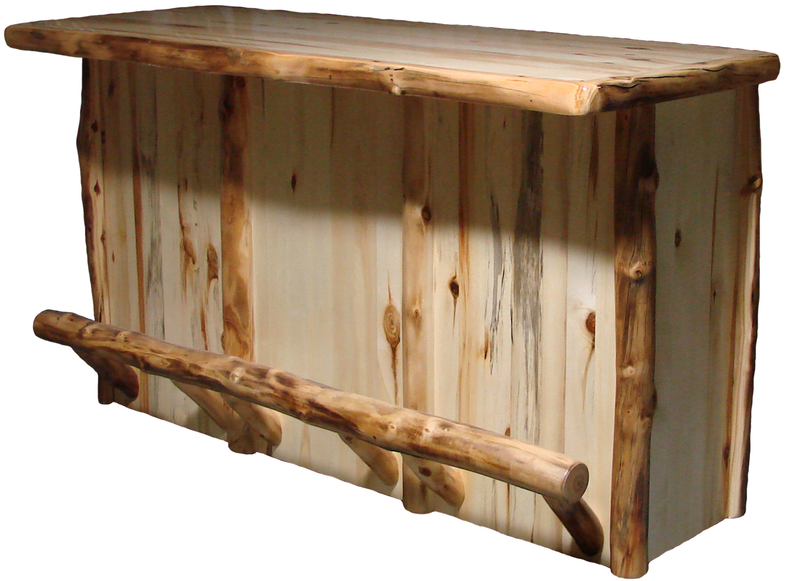 Aspen Half Log Bar Rustic Furniture Mall By Timber Creek