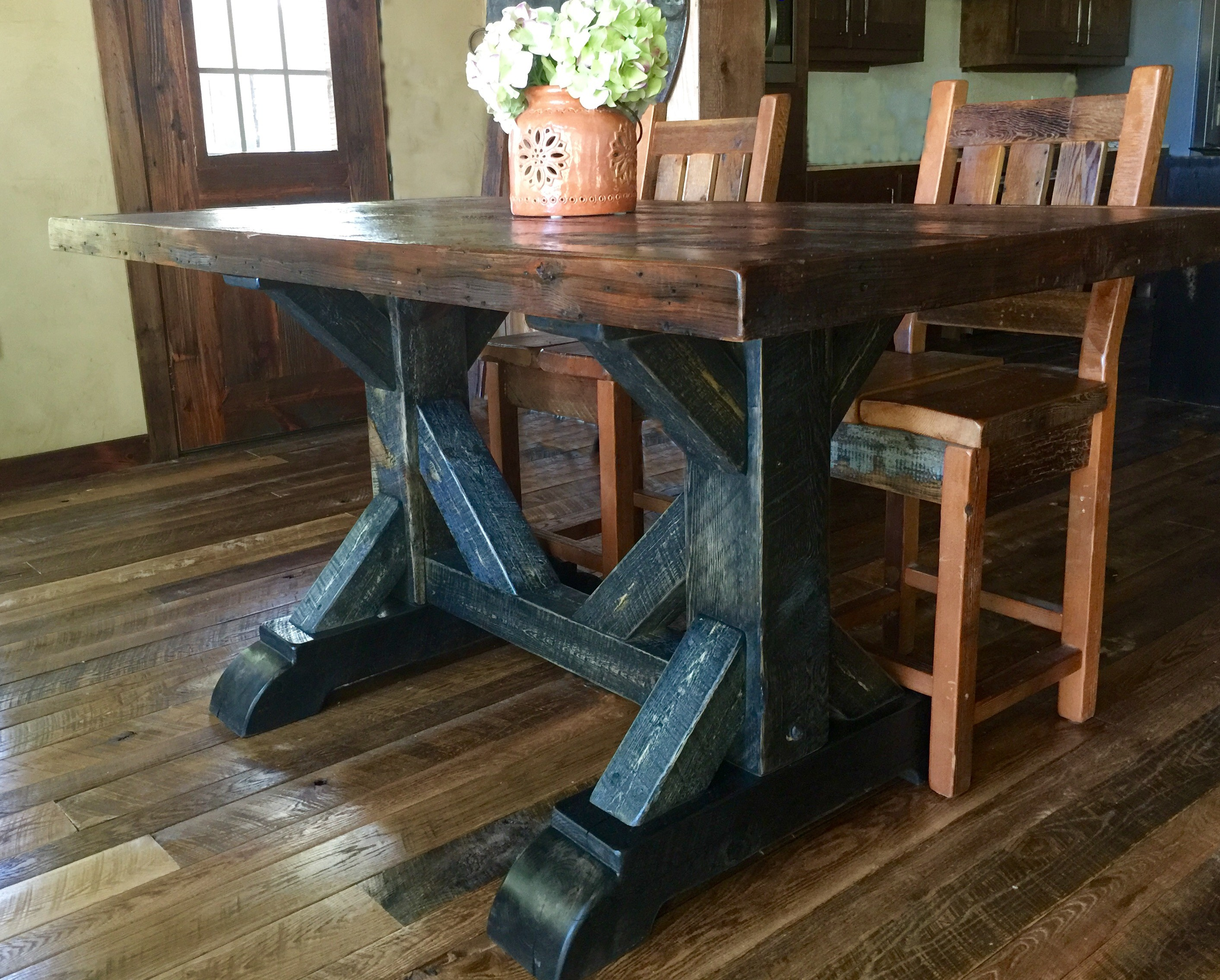 Cool Waters Rough Sawn Pine Dining Table - 36\
