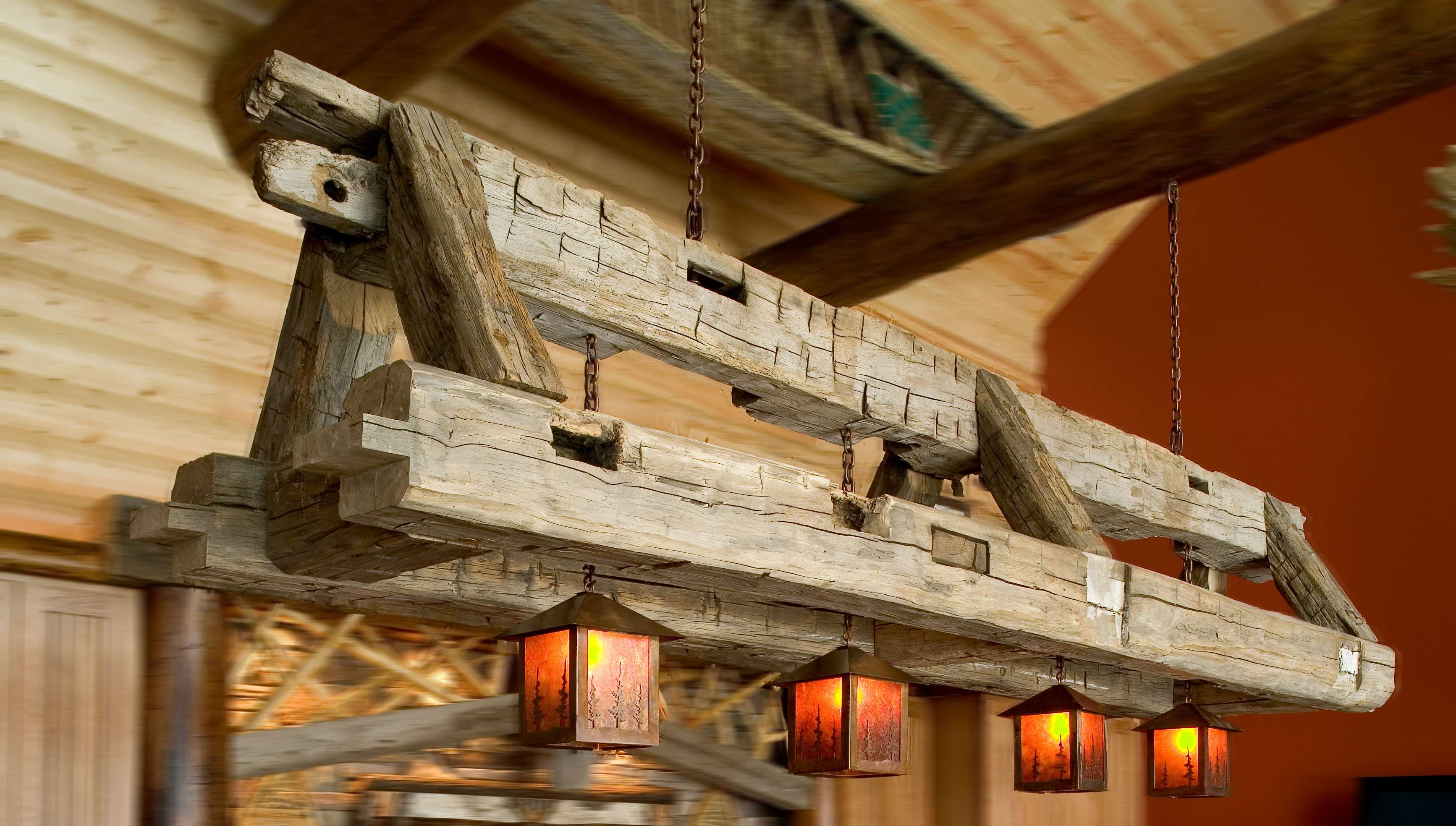 Custom Lighting Rustic Furniture Mall By Timber Creek