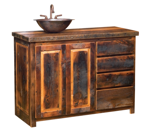 Reclaimed Barn Wood Vanity
