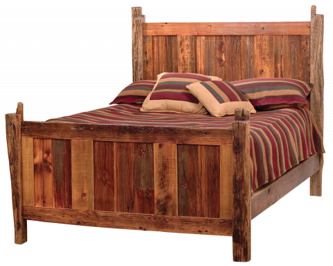 Teton Rustic Barn Wood Bed