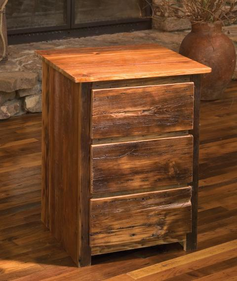 reclaimed barn wood nightstand