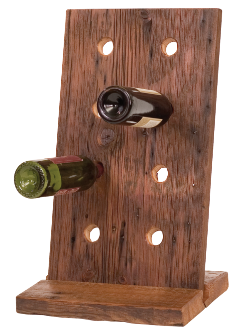 Teton Rustic Barn Wood Wine Rack