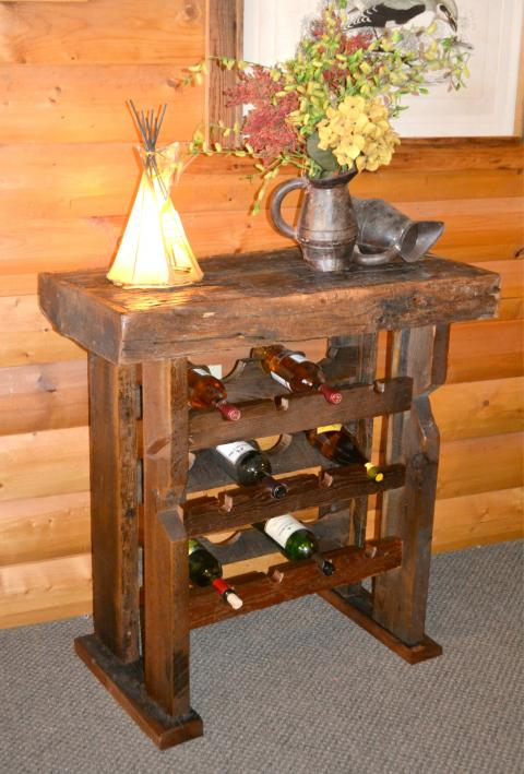 Reclaimed Pine Wine Holder
