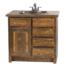 Rough Sawn Pine Vanity