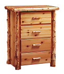 Timberland Cedar Log 4-Drawer Dresser