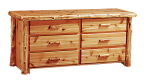 Timberland Cedar Log 6-Drawer Dresser