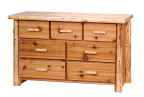 Timberland Cedar Log 7-Drawer Dresser