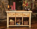 Timberland Cedar Log 3-Drawer Console