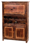 Teton Reclaimed Barnwood Wine Hutch