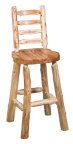 Ladder Back Bar Stool w/Scooped Seat