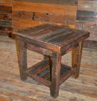 Rough Sawn Pine Open End Table
