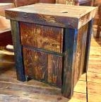 Rough Sawn Pine 1-door 1-drawer Nightstand/End Table
