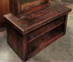 Rough Sawn Pine Bench/Storage Cabinet