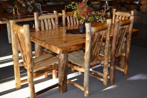 log dining room sets aspen dining tables rustic furniture mall by timber creek 4101