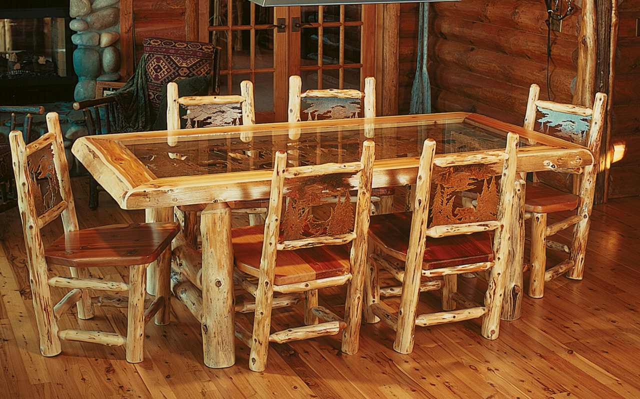 log dining room sets diningroom rustic furniture mall by timber creek 4101