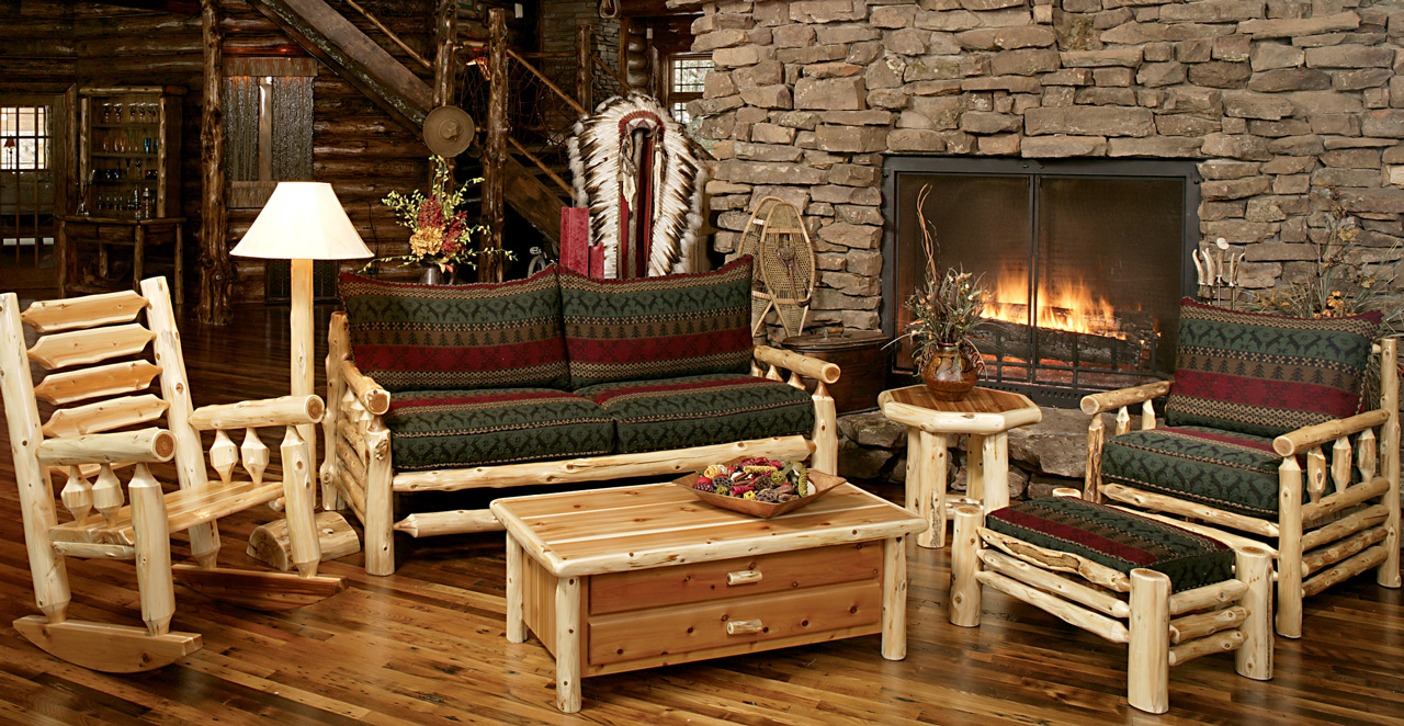 log living room furniture norseman sofa rustic furniture mall by timber creek 13344